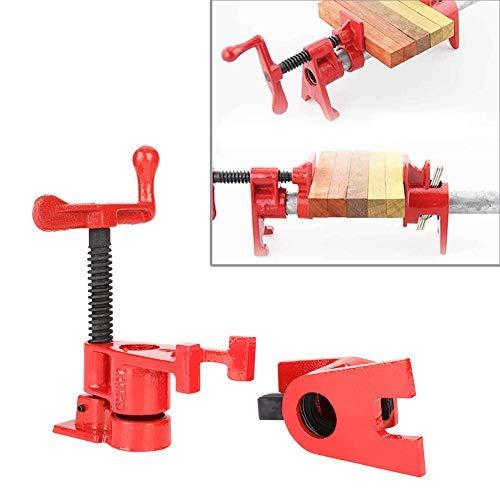 4 tornillos para madera, pinzas de madera, abrazadera de tornillo para tratamiento de madera robusto, 3/4', herramientas de trabajo de madera