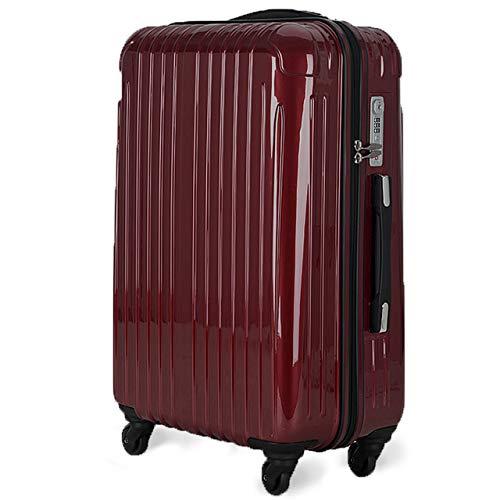 strike[ストライク]超軽量 2年保証 スーツケース TSAロック搭載 旅行バック トランクケース 旅行カバン (ダークワインレッド, 中型Mサイズ(4-7泊))