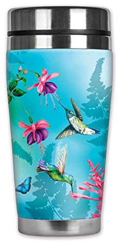Mugzie ® MAX 20 ml tasse de voyage en acier inoxydable avec combinaison isotherme Motif colibris