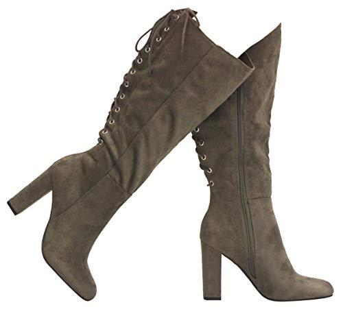 MVE Shoes Damen Soda Halbschaft Stiefel mit Schnürung hinten, (Cha IMSU*o), 37.5 EU
