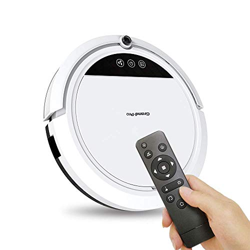 Grand-Pro S1 3 In1 Multifunctional Robot Vacuum Cleaner, Designed for Hard Floors & Pet Hair, Tangle-Free Design, Slim & Quiet, Self-Charging, Schedule Cleaning