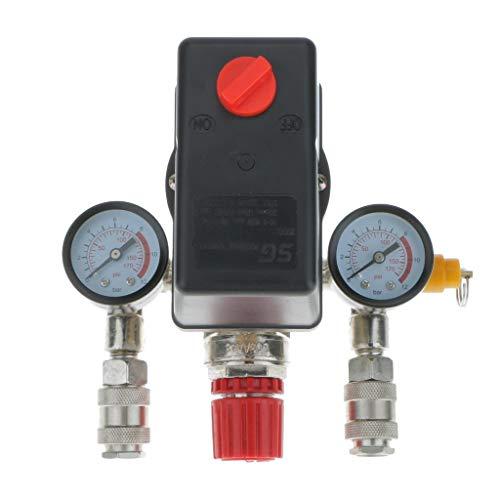 Chenbz Compresor de aire Interruptor de presión con válvula de control de contador trifásico monofásico