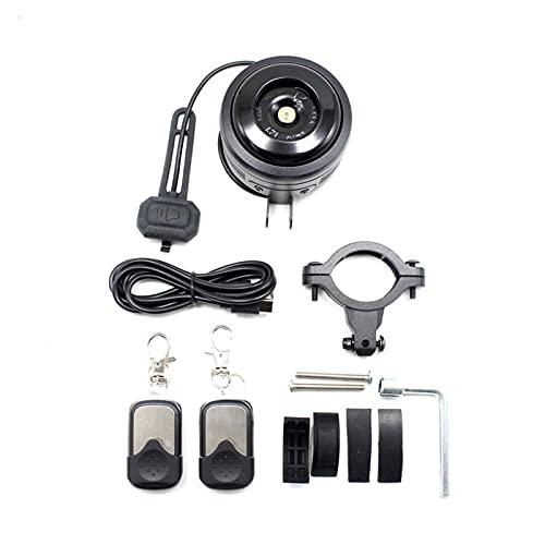 1pc / Set antirrobo de Cuerno eléctrico MTB Campana de Bicicleta de Carretera USB Anillo de Carga con Alarma para M365 Motorcycle Scooter Sound Sound DzwOnek (tamaño : Bell with Alarm)
