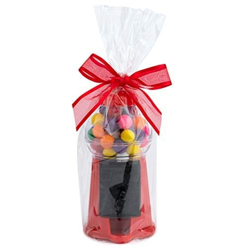 """Cellophane Bags For Baskets 9"""" X 20"""" 10 PACK Cellophane Gift Bags For Wine Bottles, Small Baskets, Mugs And Gifts 1.2 Mil Thick (10 Bags)"""