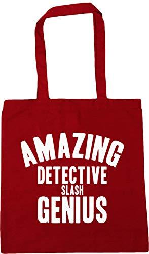 HippoWarehouse Amazing detective slash genius Tote Shopping Gym Beach Bag 42cm x38cm, 10 litres