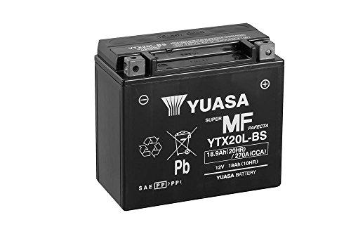 Batterie YUASA YTX20L-BS, 12V/18AH (Maße: 175x87x155) für Harley Davidson FLSTC 1584 Heritage Softail Classic Baujahr 2007