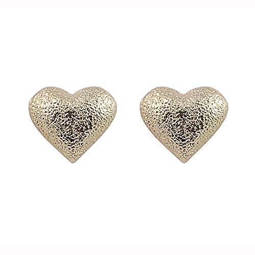 Lindo y amor romántico corazón de ley bañado en oro rosa el mejor amante regalo para ella de pendientes