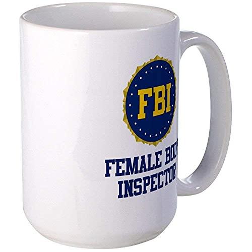 N\A Taza de Inspector de Cuerpo Femenino del FBI, 11 oz, Taza de café de cerámica de 11 oz 64ECFT
