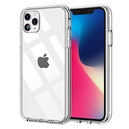Wlife Hülle Kompatibel iPhone 11 Pro,Slim Transparent Weich Anti-Vergilbung TPU Schutzhülle,Anti-Fingerabdruck, Anti-Kratze Qualität Stoßfest durchsichtig Silikon Handyhülle für iPhone 11 Pro