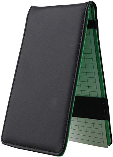 Kofull Titular de la tarjeta de la puntuación del golf de cuero de la PU de los maestros del libro de Yard