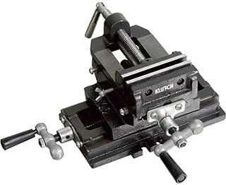 Klutch Cross Slide Drill Press Vise - 4in. Jaw Length