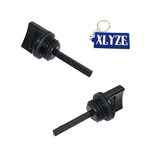 XLYZE varilla de nivel de aceite 2pcs para 15600-ZE1-003 GX110 GX120 GX160 GX200 generador de motor cortacésped bomba de agua Go Kart Mini Bike