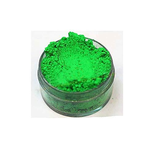 KandyDip Effektpigment NEON GRÜN Green Flourescent FLUORESZIEREND Farbpulver Pigment für Epoxidharz Autolack Sprühfolie Pigmente Aquarell Seife Powder (25 Gramm)
