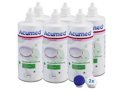 Acumed Kochsalzlösung 6er Set 6x360ml, 2 Behälter