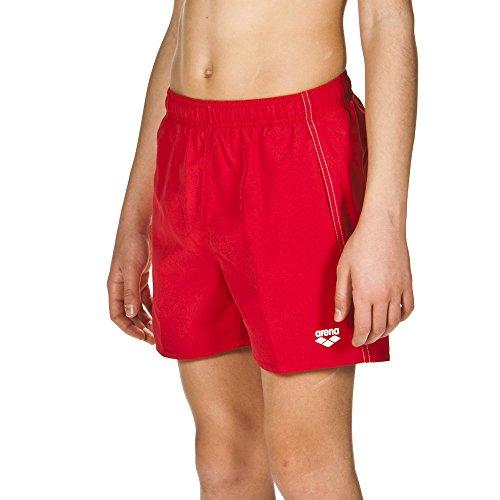 arena Jungen Badeshortss Fundamentals Boxer (Schnelltrocknend, Seitentaschen, Kordelzug, Weiches Material), Red-White (41), 152