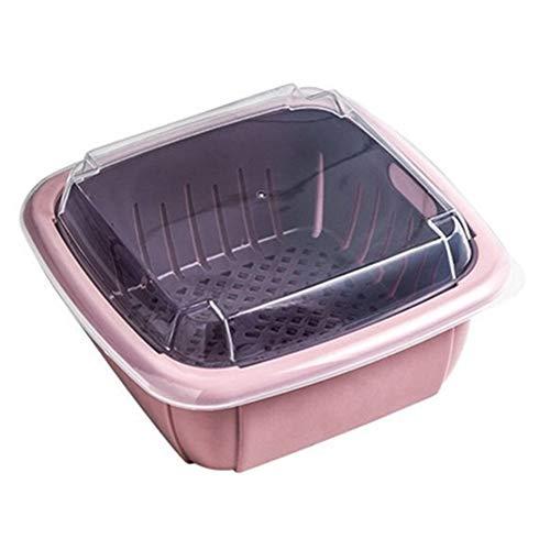 Yagoal Bacinella Pieghevole Campeggio Colapasta Piccolo Colino Setaccio Riso Filtro da Cucina Sink Cestello Pink,One Size