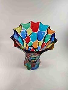 Mondo Italiano Firenze Jarrón de cristal de Murano talla pequeña