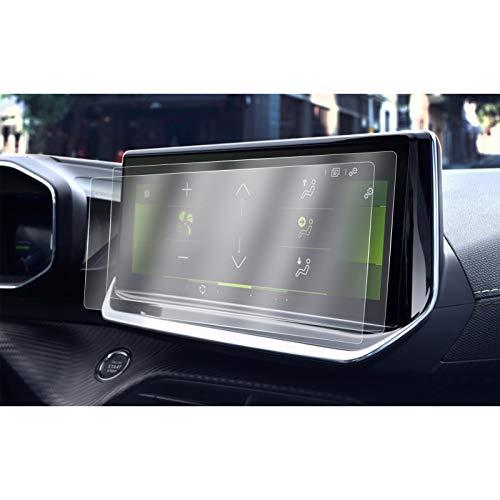 [2 pezzi] CDEFG per Peugeot 208 E-2008 2008 2020 Car Navigation 10 Pollici Pellicola protettiva 4H Scratch Resistant Anti-Fingerprint GPS Proteggi Schermo Trasparente Screen Protector