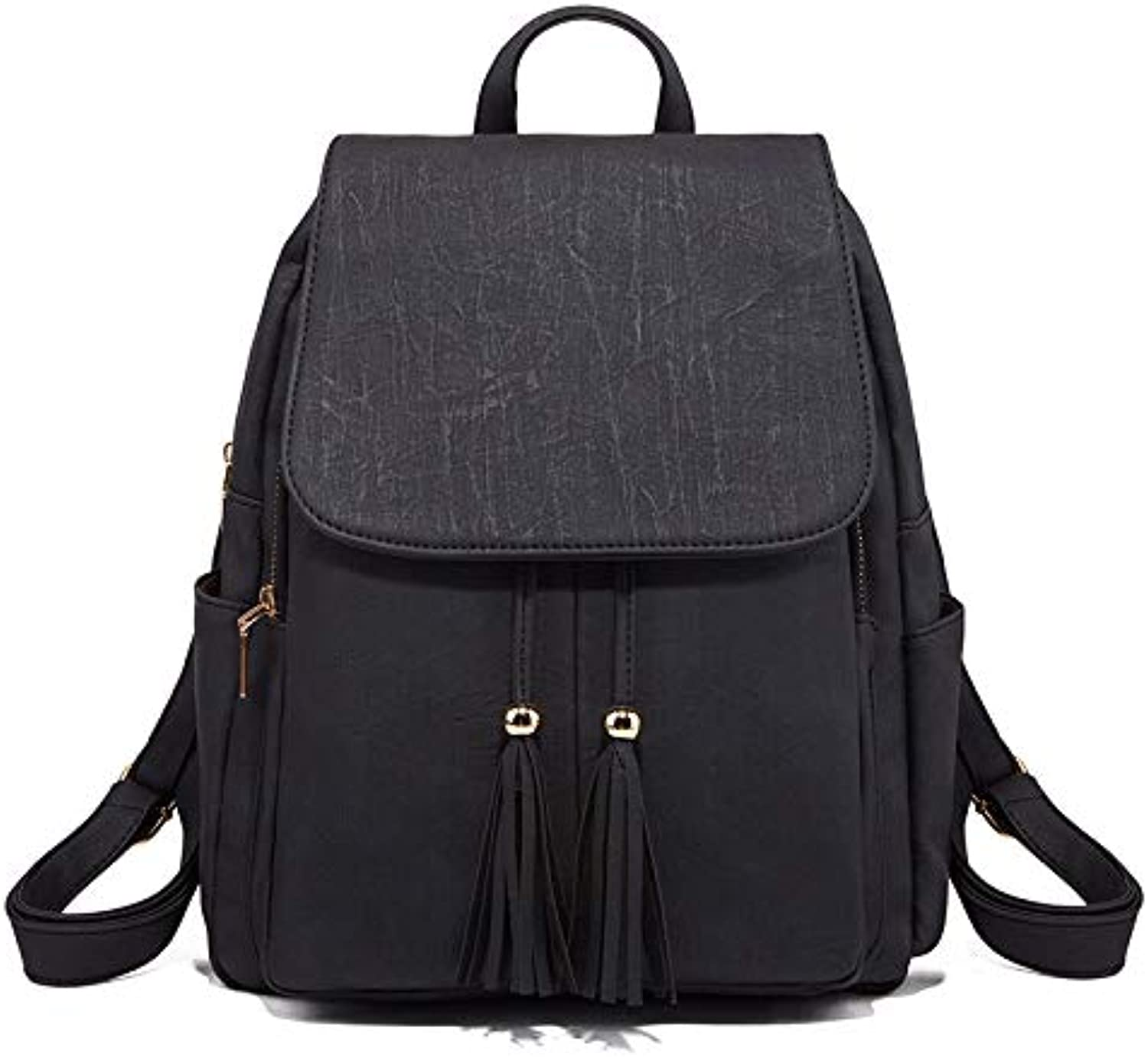9a5944cc7fac Women soft Leather Backpack Ladies Casual School (color Black ...