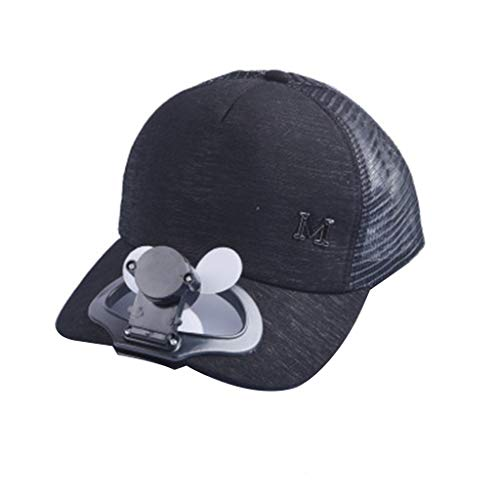 YWLINK Atmungsaktiv Camping Fauler Fan Unisex Sonnenhut Ventilator Baseballkappe Damen Usb Aufladen Ventilator HüTe Sommer AbküHlen Lassen Sport Mini Fan Caps Herren