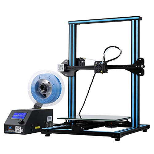 Creality 3D Open Source CR-10 3D Printer All Metal Frame 12x12x15.5 Inch Build Volume and Heated Bed Includes Glass Bed (Black)