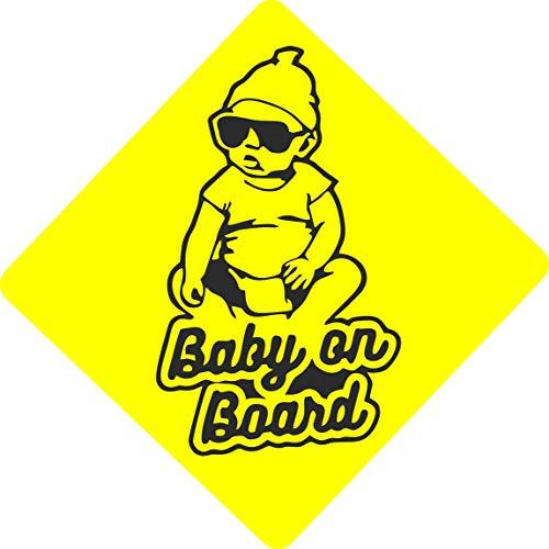 Adesivo per auto Bambino a bordo - Baby on board - - Diversi Modelli - avviso di sicurezza e prudenza (PIC 15)