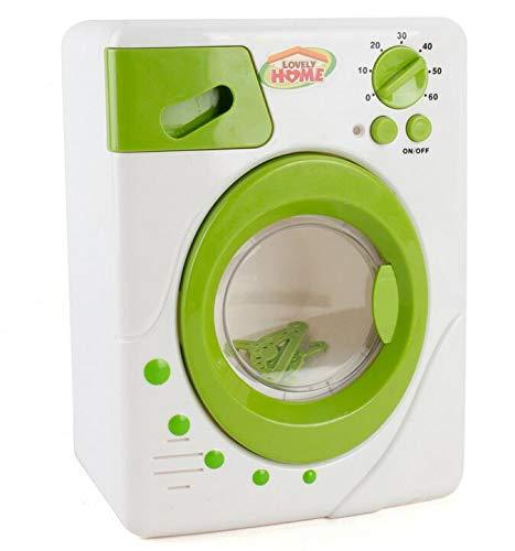 Hukz Kinderwaschmaschine Toy Mini Washing Machine, Miniatur Wäsche Spielset Waschmaschine Kinder Spielzeug, Kinder-Rollenspiele Haushaltsspielzeug Makeup Brush Cleaner Device (Grün)
