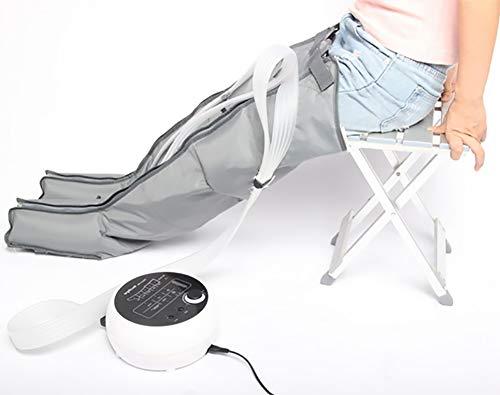 ZBAM Gamba a Compressione d'Aria sequenziale Set di massaggiatori per Vitello e Circolazione del Piede Massaggi, Pressione e Tempo Facile Impostare