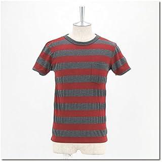 Velva Sheen ベルバシーン メンズ ワイドボーダー Uネック TシャツS/S[161405] Mサイズ BURGAN/CHA