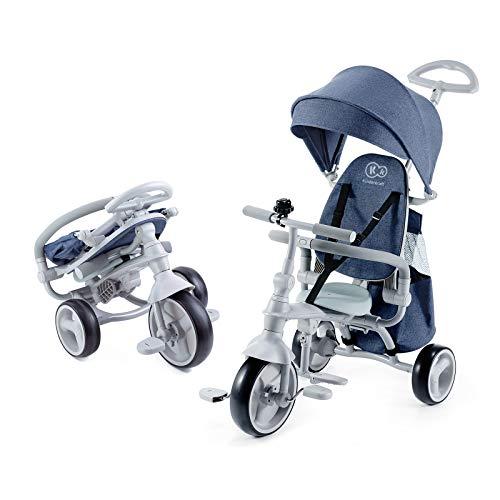 Kinderkraft Jazz 4-in-1 driewieler schuiver kinderdriewieler met accessoires blauw