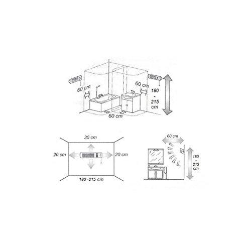XIMAX Infrarotstrahler Terrassenheizung Heizstrahler mit Ventilator IP24, Silber/Grau, 1800 Watt, 42023 - 4