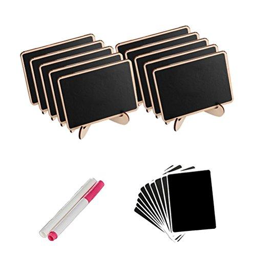 ULTNICE Tischkarten Holz Mini Tafel Platzkarten Namenskarten Hochzeit Tischdeko 10 Stücke