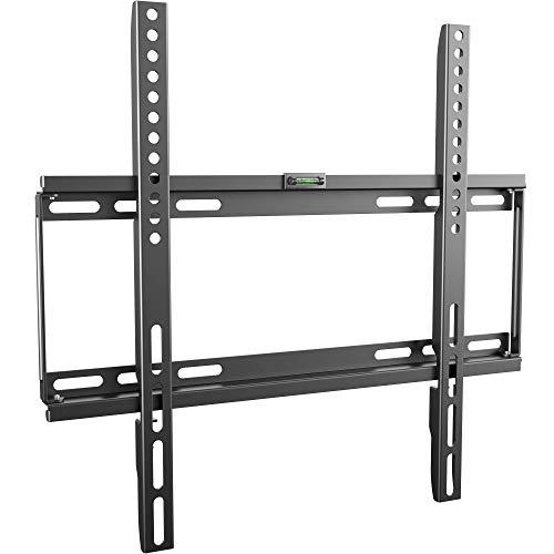 RICOO F0144, TV Wandhalterung, Flach, Fix, Universal 26-55 Zoll (66-140cm), TV-Halterung, Ultra-Slim, für Curved LED Fernseher, VESA 200x200-400x400