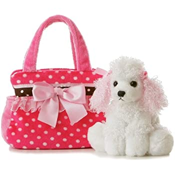 "Aurora - Pet Carrier - 8"" Fancy Pink Polka Dot"