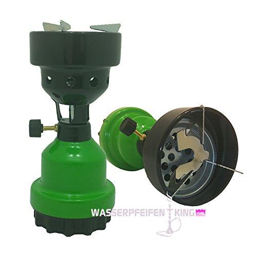 Coala Shisha Gasanzünder Kohlenanzünder für Wasserpfeifen Naturkohle grün