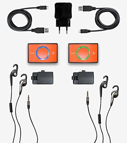 Ceecoach Kit Duo Bluetooth Kommunikation Und Gegensprechanlage Für Reitsport, Wintersport, Industrie, rot, One Size