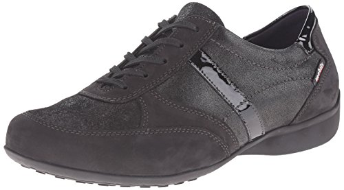 Mephisto Women's Fedra Walking Shoe, Black Bucksoft/Fashion/Patent, 5 M US