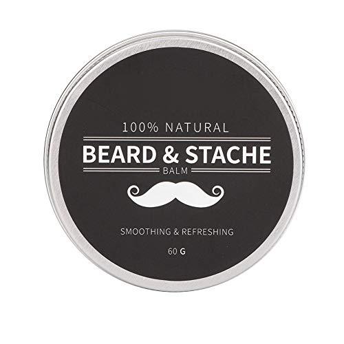 Beard Grooming Kit Mejor regalo para hombres Mejor facial, bálsamo para barba Acondicionador para el crecimiento del bigote Crema suavizante para barba 60g Calma Suavizado Tames & Styles Cabello Afte