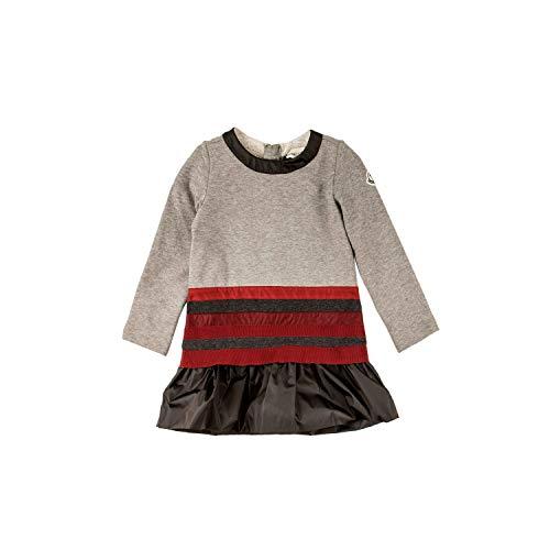 Moncler Sweatshirt Langarmkleid - grau- rot, Größe:6 Jahre / 116