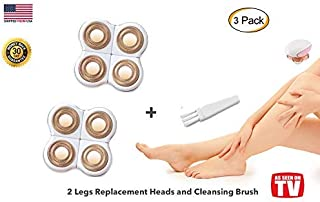 Legs Hair Removal Replacement Heads for Women's Painless Trimmer Shaver for Smooth Finishing and Perfect Touch, As Seen On TV, Count 2