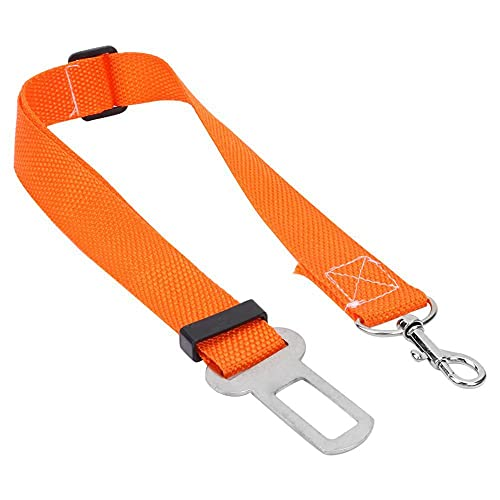 HYFZY Longitud ajustable coche mascota perro fibra de poliéster conveniente moda cinturón de seguridad cinturón de seguridad perro arnés