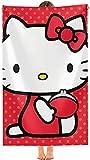 NFBZ Toalla de playa Hello Kitty con impresión 3D Anime Super Absorbent Summer Beach Towel-Cartoons Quick-Drying Towel Blanket (F02,80 * 160 cm)