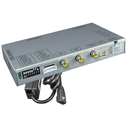Video-Interface: Rückfahrkamera, 2X Video-In & TV-Freischaltung für Citroen & Peugeot mit Farbdisplay-Navi und 10-Pin LVDS Monitor-Stecker (kein Ton)
