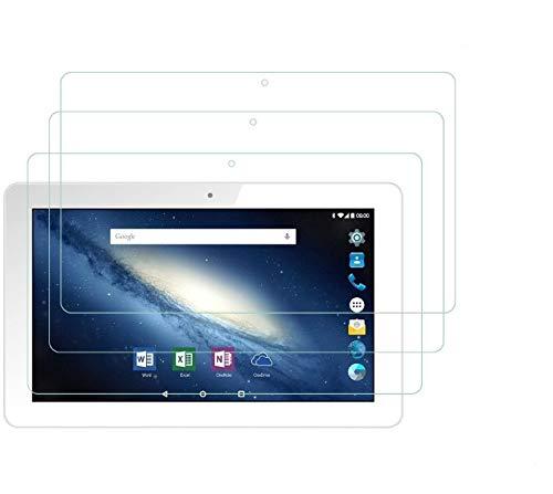 IVSO 3 x glasklare Schutzfolie für Dragon Touch K10,TYD 10, ZONKO 3G, FiGE 10, HOPLAZA, PADGENE, Lectrus 10.1, Yuntab 3G 10.1/K107, BEISTA 10, Artizlee ATL-31/ATL-21T,Lnmbbs 10.1