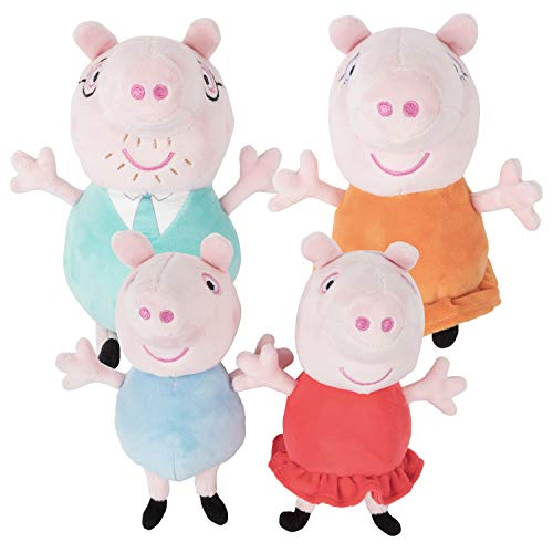 Peppa Pig Family Plush Toy 4 Pack - Includes Daddy, Mummy, Peppa & George - 7-8 inches - 18+ Months