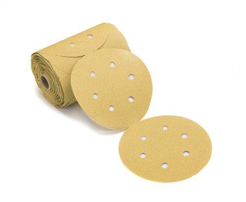 Mirka 23-343-080 Bulldog Gold 6-Inch 6-Hole PSA Vacuum Linkrol Disc with 80 Grit