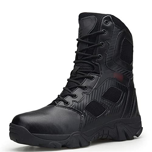 Botas militares de los hombres de alta parte superior zapatos de senderismo al aire libre anti-colisión calidad ejército botas tácticas