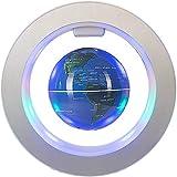 FGKLU 4 Inch Levitación Magnética Globo Terraqueo, LED Luminiscente Giratorio Bola Mundo, Base Magnética Redonda, para Regalo de Cumpleaños, Decoración del Hogar y la Oficina
