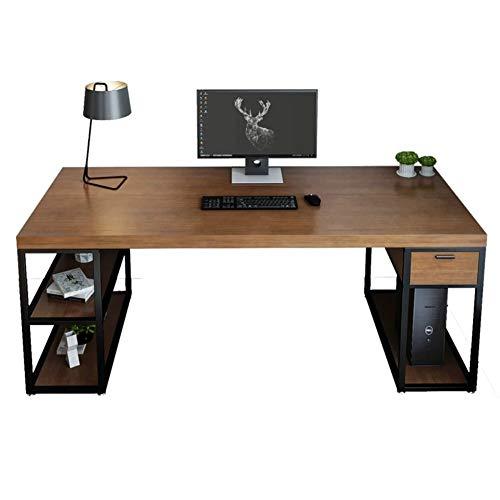 RLIRLI huishouden massief houten tafel combinatie persoonlijk kantoor smeedijzer desktop computer bureau studie lange werkbank