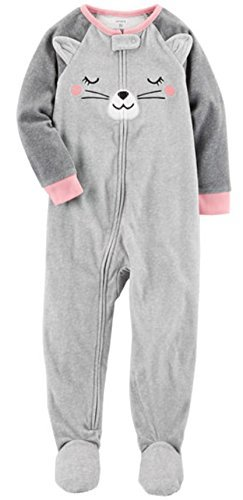 Carter's Baby Girls' Microfleece 115g166 (6 Months, Kitty Cat)